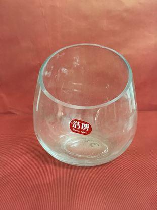 """תמונה של עציץ זכוכית 14X15 ס""""מ."""